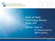 Solar at Night: Technology Behind Solar LED - Solar Decathlon