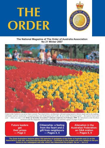 The Order Winter July 07 - Order of Australia Association
