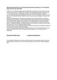 Bekanntmachung über die Festsetzung der Bodenrichtwerte in der ...