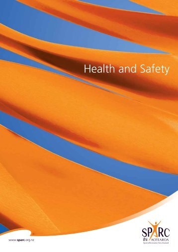 Health and Safety (PDF, 581 Kb) - Sport New Zealand