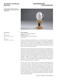 Kunstwerk des Monats Mai 2013 KUNSTMUSEUM LIECHTENSTEIN