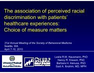 The association of perceived racial discrimination with patients ...