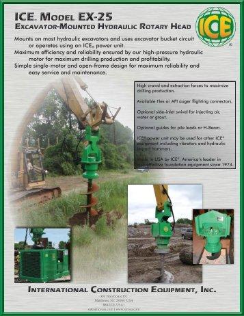 Mounts on most hydraulic excavators and uses excavator - ICEUSA