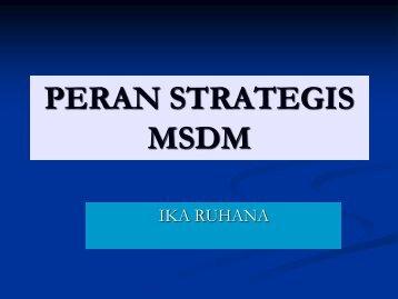 1.peran strategis MSDM