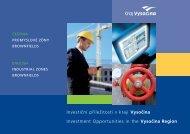 Investiční příležitosti v kraji Vysočina Investment ... - Extranet