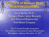 Overview Of Human Body Models Consortium - University of ...