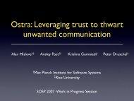PDF (658 KB) - SOSP 2007