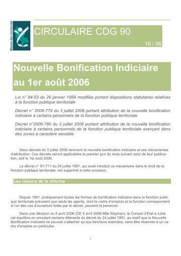 Nouvelle bonification indiciaire - Grille nbi fonction publique territoriale ...