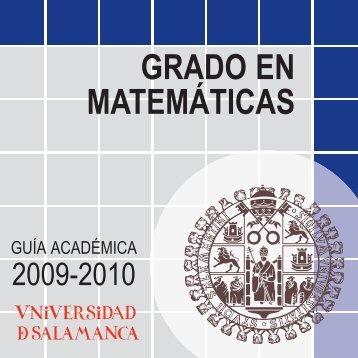 Guía Académica - Universidad de Salamanca