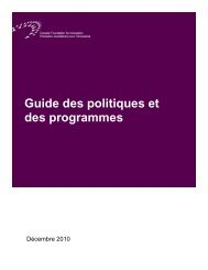 Guide des - Canada Foundation for Innovation