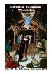 Pfarrbrief102-Dezember 2008 - St. Michael Weingarten