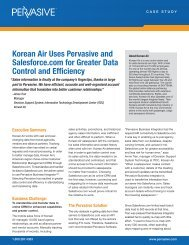 Korean Air Uses Pervasive and Salesforce.com for Greater Data ...