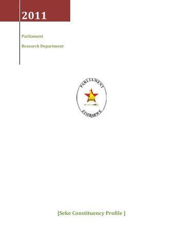 Seke Constituency Profile - Parliament of Zimbabwe