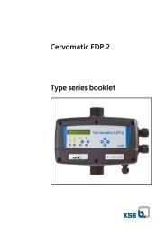 Type series booklet Cervomatic EDP.2 - Saga