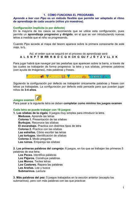1 1 Cãmo Funciona El Programa Aprende A Leer Con Pipo Es
