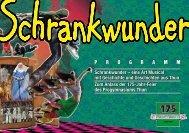 PROGRAMM Schrankwunder – eine Art Musical mit Geschichte und ...