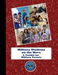 Military Students on the Move - Wrightslaw