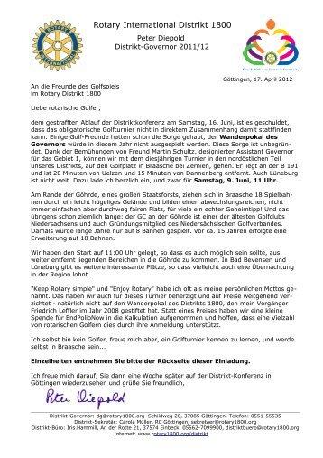 Briefformular Rotary Club Göttingen Ri Governor Peter Diepold