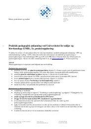 Praktisk-pedagogisk utdanning ved Universitetet for miljø - UMB