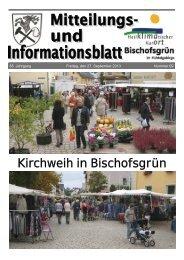 Kirchweih in Bischofsgrün