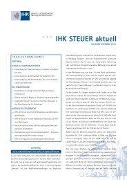 Steuer aktuell Dezember 2013 - IHK Nürnberg für Mittelfranken