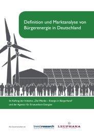Definition und Marktanalyse von Bürgerenergie in Deutschland