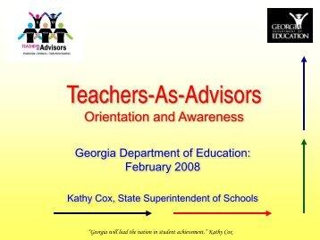 Teachers-As-Advisors - GeorgiaStandards.org