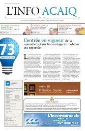 Journal L'Info ACAIQ 07-2009 - oaciq