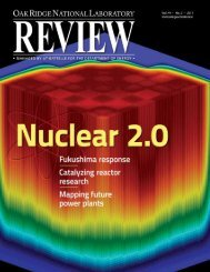 ORNL Review Volume 44 Number 2, 2011 - Oak Ridge National ...