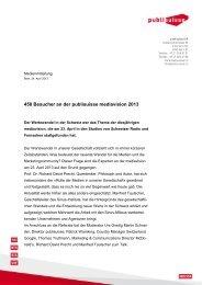 450 Besucher an der publisuisse mediavision 2013 [PDF]
