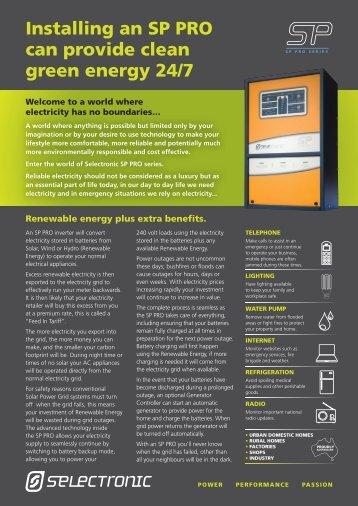 SP PRO Grid Feed Backup DC Coupled