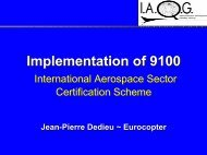 Implementation of 9100 Implementation of 9100 - SAE
