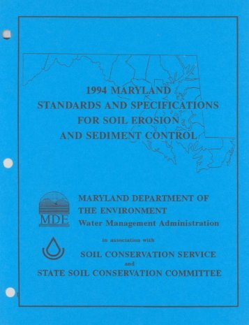 1994 Maryland Standards and Specifications for Soil Erosion and ...