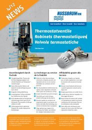 NEWS 4/12 Thermostatventile - R. Nussbaum AG