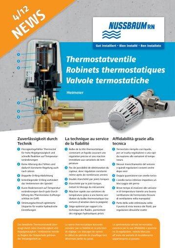 NEWS 4/12 Thermostatventile - R. Nussbaum AG