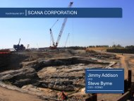 4th Quarter & Full Year 2011 Financial Results - SCANA Corporation