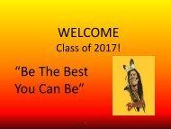 2013 8th Grade Parent Night PPT - Kennewick School District