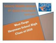 6th Grade Orientation - West Fargo Public Schools