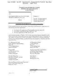 1 Case 10-43884 Doc 291 Filed 03/13/12 Entered ... - Jager Smith PC