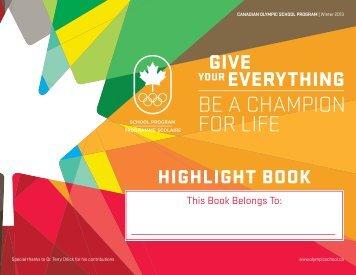 Highlight Book - Canadian Olympic School Program