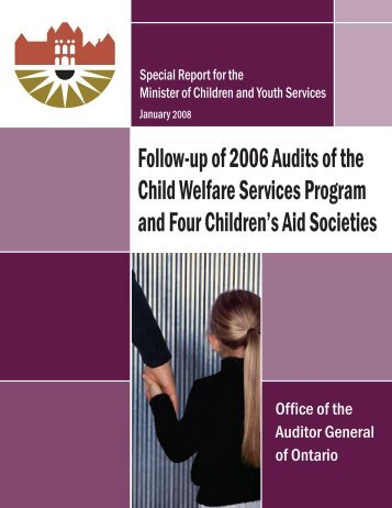 Follow-up of 2006 Audits of the Child Welfare Services Program and ...