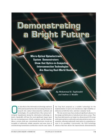 Demonstrating a bright future - IEEE Circuits and ... - IEEE Xplore
