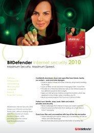 Datasheet - BitDefender internet security 2010