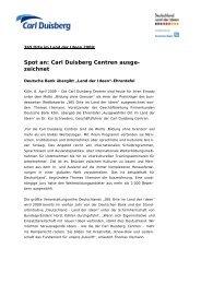 Spot an: Carl Duisberg Centren ausge- zeichnet