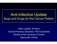 Bugs and Drugs: An Update for the Oncology Pharmacist
