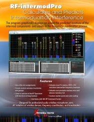 RF-intermodPro Brochure - Kaltman Creations LLC