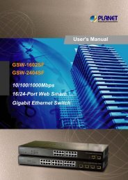 GSW-1602SFv3 / 2404SFv3 User's manual - Planet