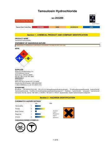 Tamsulosin Hydrochloride - Santa Cruz Biotechnology
