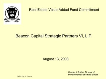 Beacon Capital Strategic Partners VI, LP Value-Added ... - PSERs