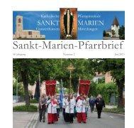 Sankt-Marien-Pfarrbrief - Bistum